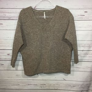 Free People Batwing Wool Blend Oversized Sweater S